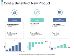 Cost And Benefits Of New Product Ppt PowerPoint Presentation Portfolio Gridlines