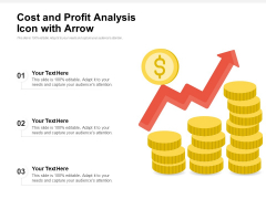 Cost And Profit Analysis Icon With Arrow Ppt PowerPoint Presentation File Rules PDF