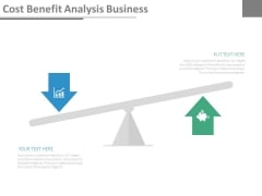 Cost Benefit Analysis Business Ppt Slides