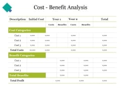 Cost Benefit Analysis Ppt PowerPoint Presentation Icon Graphics Example