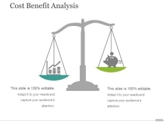 Cost Benefit Analysis Template 1 Ppt PowerPoint Presentation Gallery Icons