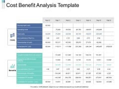 Cost Benefit Analysis Template Ppt PowerPoint Presentation Portfolio Vector