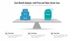 Cost Benefit Analysis With Price And Value Vector Icon Ppt Visual Aids PDF
