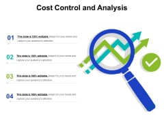 Cost Control And Analysis Ppt PowerPoint Presentation Summary Example Topics PDF