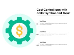 Cost Control Icon With Dollar Symbol And Gear Ppt PowerPoint Presentation File Infographics PDF