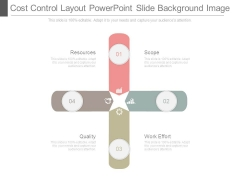 Cost Control Layout Powerpoint Slide Background Image