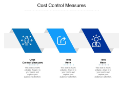 Cost Control Measures Ppt PowerPoint Presentation Show Graphics Example Cpb