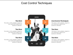 Cost Control Techniques Ppt PowerPoint Presentation Infographic Template Example Topics Cpb