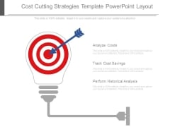 Cost Cutting Strategies Template Powerpoint Layout