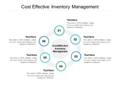 cost effective inventory management ppt powerpoint presentation summary brochure cpb