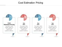 Cost Estimation Pricing Ppt PowerPoint Presentation Infographic Template Mockup Cpb