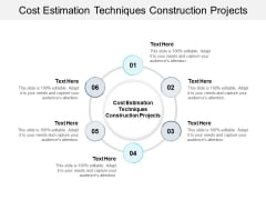 Cost Estimation Techniques Construction Projects Ppt PowerPoint Presentation Pictures Examples Cpb Pdf