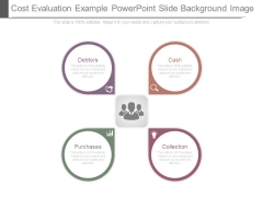 Cost Evaluation Example Powerpoint Slide Background Image