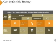 Cost Leadership Strategy Ppt PowerPoint Presentation Slides