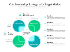 Cost Leadership Strategy With Target Market Ppt PowerPoint Presentation Pictures Templates PDF