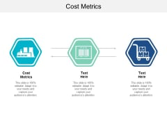 Cost Metrics Ppt PowerPoint Presentation Model Background Cpb
