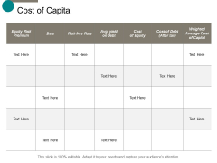 Cost Of Capital Business Ppt Powerpoint Presentation Outline Examples