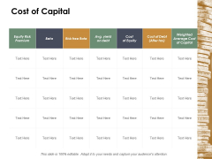 Cost Of Capital Ppt Powerpoint Presentation Pictures Maker