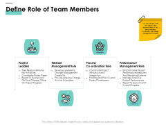 Cost Of Managing Organisational Change Define Role Of Team Members Ppt PowerPoint Presentation Icon Vector PDF