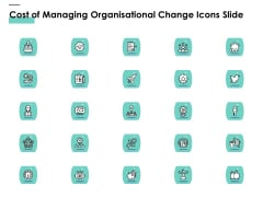 Cost Of Managing Organisational Change Icons Slide Ppt PowerPoint Presentation Infographic Template Samples PDF
