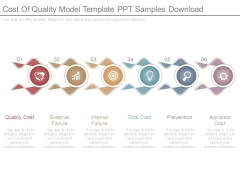 Cost Of Quality Model Template Ppt Samples Download