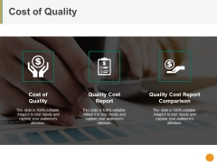 Cost Of Quality Template 1 Ppt PowerPoint Presentation File Designs Download
