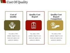 Cost Of Quality Template 1 Ppt PowerPoint Presentation Slides Background Images