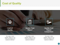 Cost Of Quality Template 1 Ppt PowerPoint Presentation Styles Example