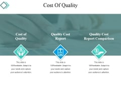 Cost Of Quality Template 2 Ppt PowerPoint Presentation Gallery Graphics Tutorials