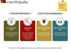 Cost Of Quality Template 2 Ppt PowerPoint Presentation Infographics Graphics Example