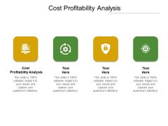 Cost Profitability Analysis Ppt PowerPoint Presentation Inspiration Designs Download Cpb