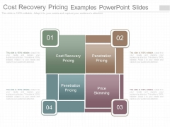 Cost Recovery Pricing Examples Powerpoint Slides