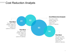 Cost Reduction Analysts Ppt PowerPoint Presentation Ideas Backgrounds Cpb