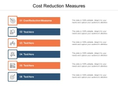 Cost Reduction Measures Ppt PowerPoint Presentation Outline Slides Cpb