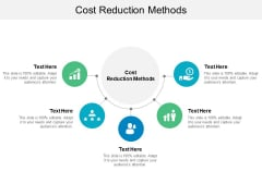 Cost Reduction Methods Ppt PowerPoint Presentation Slides Smartart Cpb