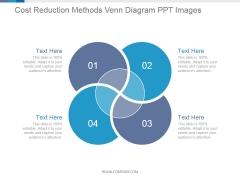 Cost Reduction Methods Venn Diagram Ppt PowerPoint Presentation Deck