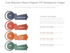 Cost Reduction Report Diagram Ppt Background Images