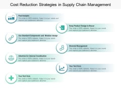 Cost Reduction Strategies In Supply Chain Management Ppt PowerPoint Presentation Slides Topics PDF