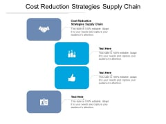 Cost Reduction Strategies Supply Chain Ppt PowerPoint Presentation Professional Brochure Cpb Pdf