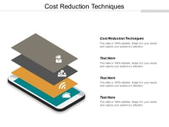 Cost Reduction Techniques Ppt PowerPoint Presentation Slides Portfolio Cpb