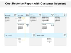 Cost Revenue Report With Customer Segment Ppt PowerPoint Presentation Gallery Example PDF