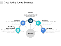 Cost Saving Ideas Business Ppt PowerPoint Presentation Pictures Summary Cpb