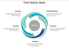 Cost Saving Ideas Ppt PowerPoint Presentation Infographics Layouts Cpb
