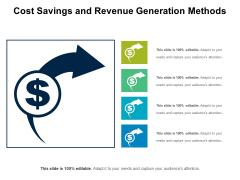 Cost Savings And Revenue Generation Methods Ppt PowerPoint Presentation Ideas Smartart PDF