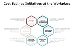 Cost Savings Initiatives At The Workplace Ppt PowerPoint Presentation Ideas Examples