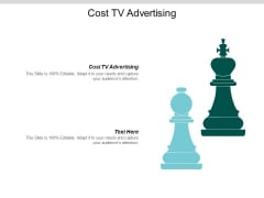 Cost Tv Advertising Ppt PowerPoint Presentation Inspiration Graphics Design Cpb