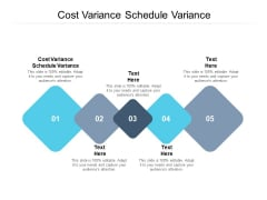 Cost Variance Schedule Variance Ppt PowerPoint Presentation Model Cpb Pdf