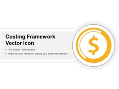 Costing Framework Vector Icon Ppt PowerPoint Presentation Icon Graphics Example PDF