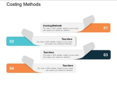 Costing Methods Ppt Powerpoint Presentation Outline Elements Cpb