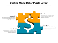 Costing Model Dollar Puzzle Layout Ppt PowerPoint Presentation Model Design Inspiration PDF